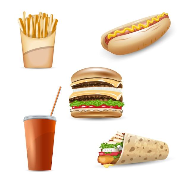 Fastfood pictogrammenset