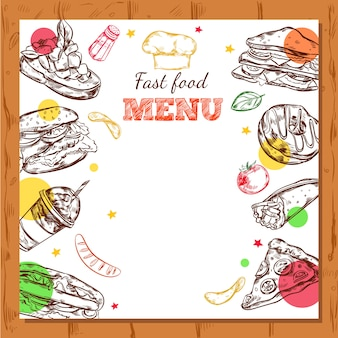 Fastfood restaurant menu ontwerp