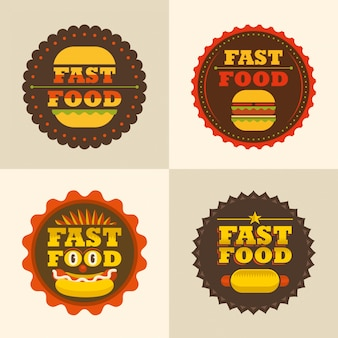 Fastfood stickers