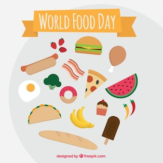Fastfood tot wereldvoedseldag vieren