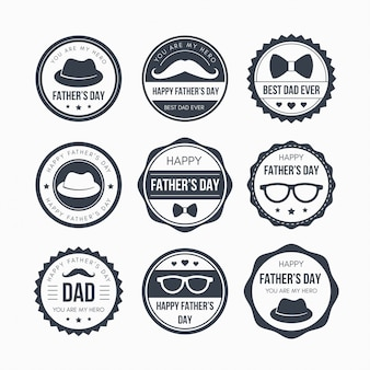 Fathers day badge design