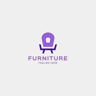 Fauteuil vorm logo voor meubelbedrijf