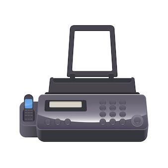 Faxapparaat telekopiëren of telefax telefacsimile, telefonische verzending van gescand gedrukt materiaal naar telefoonnummer aangesloten op printerapparaat,