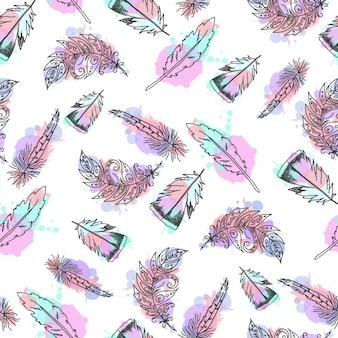 Feathers patroon ontwerp
