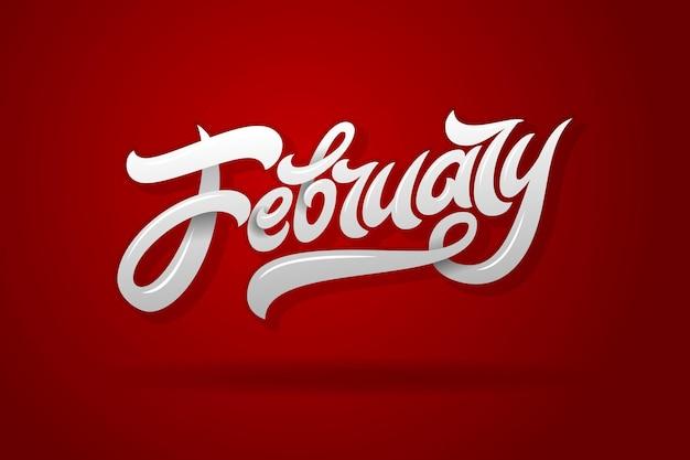 Februari belettering