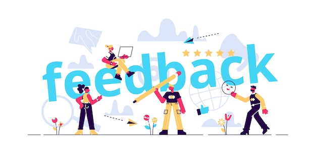 Feedback concept illustratie