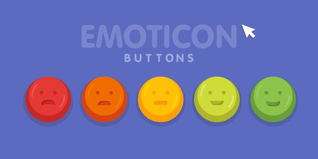 Feedback emoticon emoji glimlach pictogram vectorillustratie