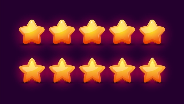 Feedback rating concept met vijf sterren