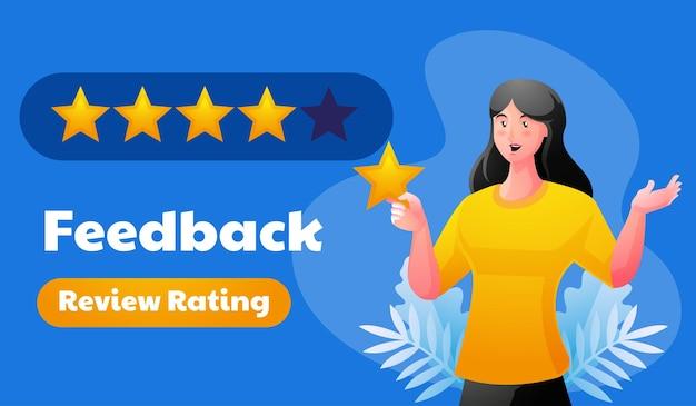 Feedback review rating illustratie