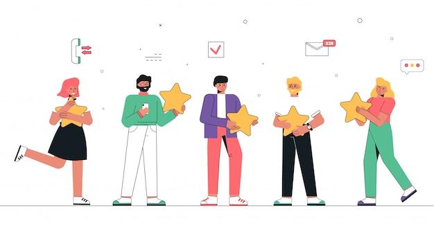 Feedback van gebruikers en klanten over de diensten van het bedrijf