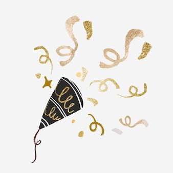 Feest confetti decoratie sticker vector