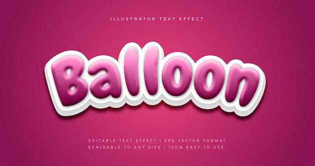 Feestballon tekststijl lettertype-effect