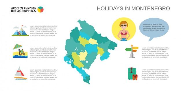 Feestdagen in montenegro dia sjabloon