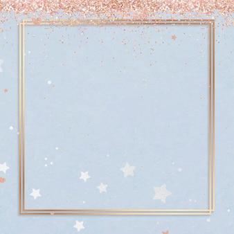 Feestelijk glinsterend framehartpatroon