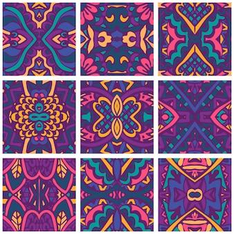 Feestelijk kleurrijk behang. psychedelische naadloze decoratie.