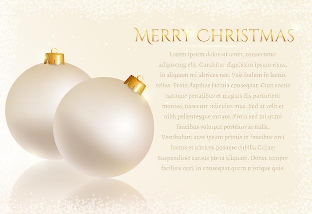 Feestelijk met kerstballen. kaart.