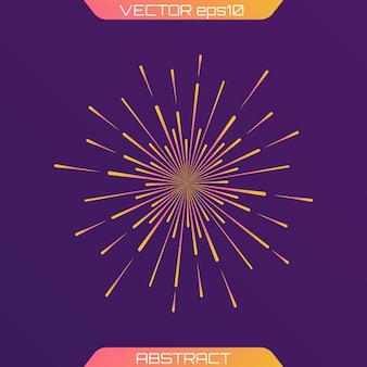 Feestelijk vuurwerk, lichtstralen van burst, stralen stralende pictogram