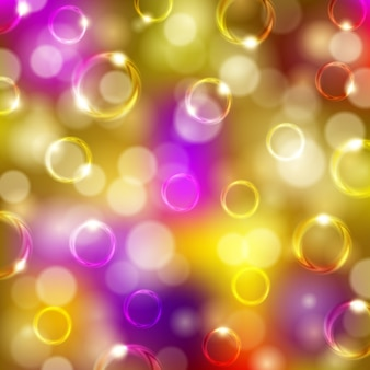 Feestelijke achtergrond met bubbels, bokeh