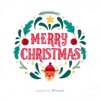 Feestelijke achtergrond met kerst belettering