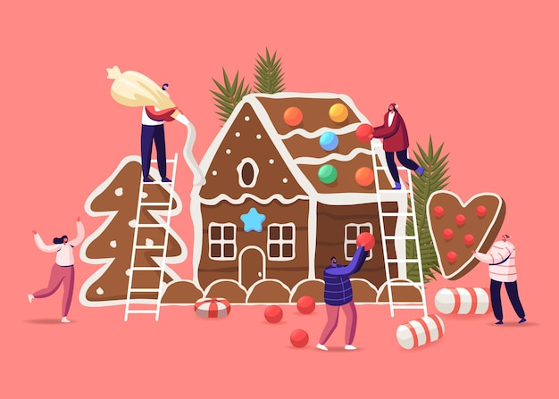 Feestelijke activiteit voorbereiding voor kerstviering