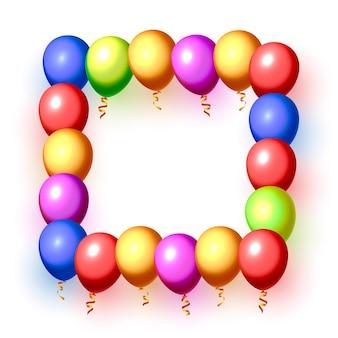 Feestelijke ballon in een leeg frame, gekleurd. vector illustratie