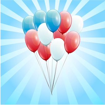 Feestelijke ballonnen echte transparantie. presidenten dag