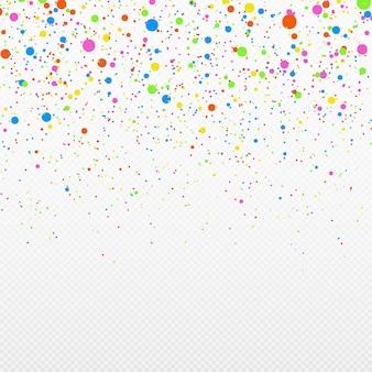 Feestelijke confetti willekeurige chaotische polka dot gekleurde serpentine