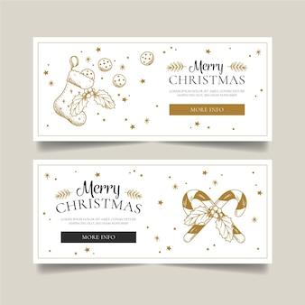 Feestelijke kerst banners sjabloon