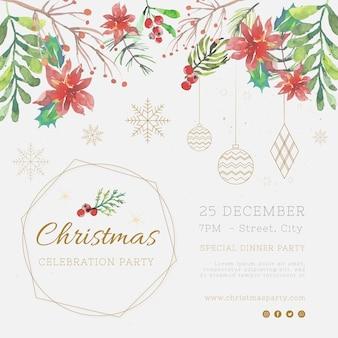 Feestelijke kerst flyer-sjabloon