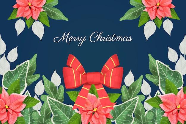 Feestelijke kerst lint achtergrond