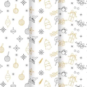 Feestelijke kerst patrooncollectie