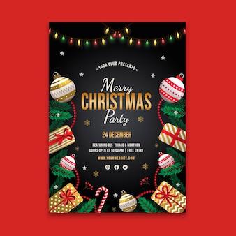 Feestelijke kerst poster sjabloon