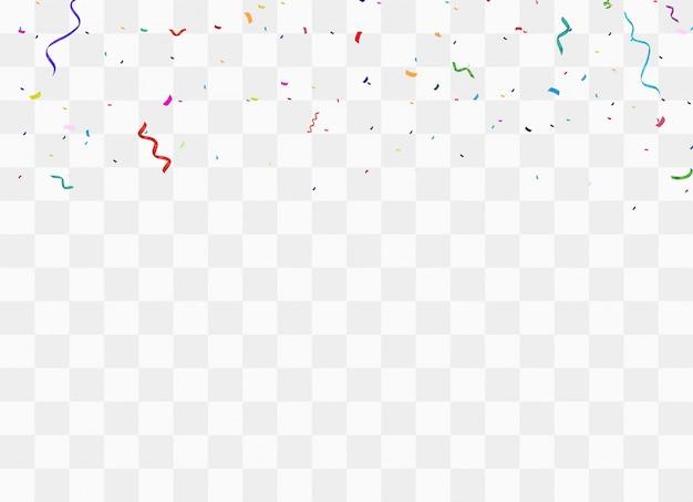 Feestelijke kleurrijke confetti. viering feest.