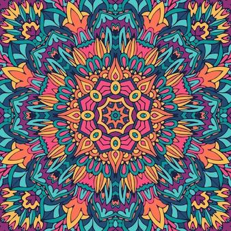 Feestelijke kleurrijke mandala kunst patroon