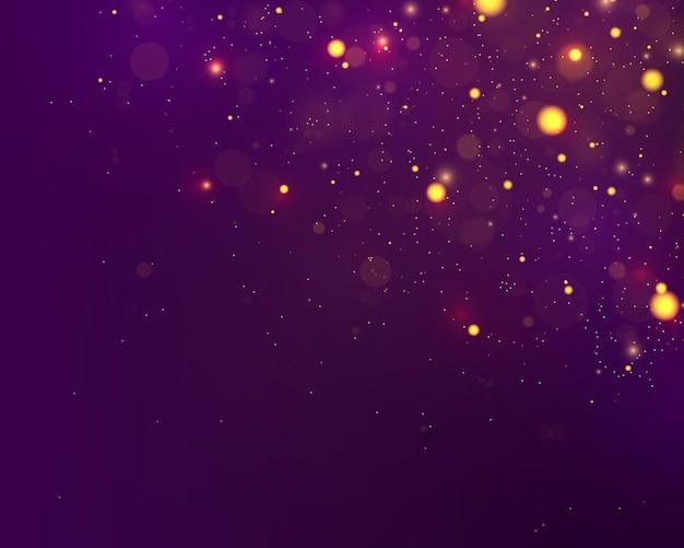 Feestelijke paarse en gouden lichtgevende achtergrond