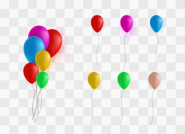 Feestelijke rubberen ballonnen gevuld met heliumset
