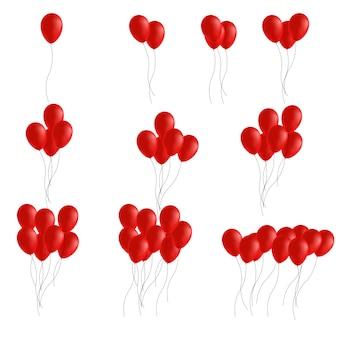 Feestelijke rubberen ballonset gevuld met helium