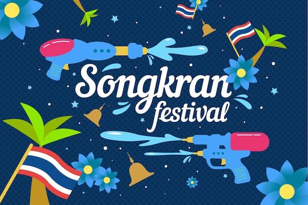 Feestelijke songkran festival achtergrond