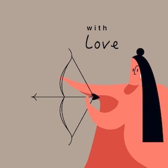 Feestelijke valentijnsdag vector
