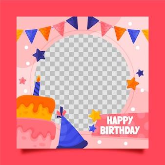 Feestelijke verjaardag facebook frame