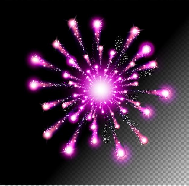Feestelijke vuurwerk salute burst