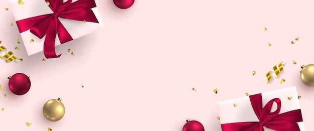 Feestelijke wenskaart met nieuwjaar en merry christmas