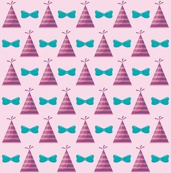 Feestmuts met boog decoratief patroon