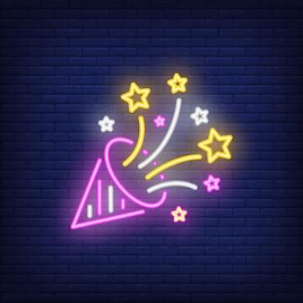 Feestmuts neonbord
