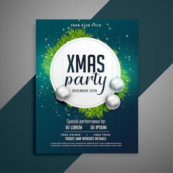 Feestviering flyer voor kerstfeest