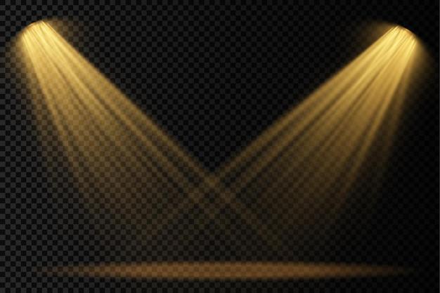 Felgele verlichting met lichteffecten van spotlightprojector