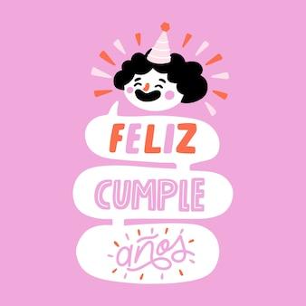 Feliz cumpleaños belettering concept