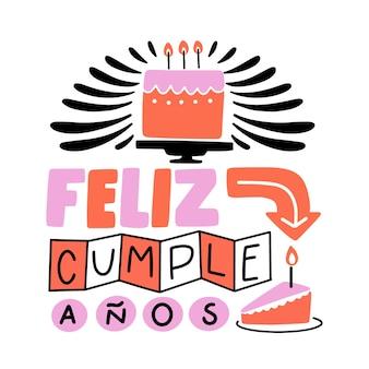 Feliz cumpleaños belettering