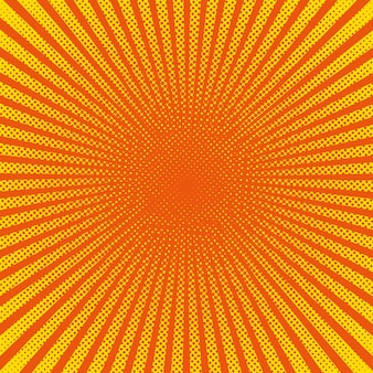 Felle zonnestralen met gele stippen
