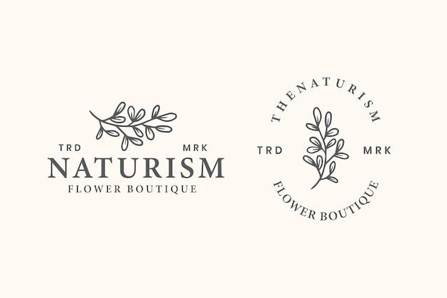 Feminime botanische logo sjabloon